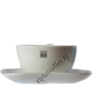 Чашка с блюдцем c логотипом Альтхаус