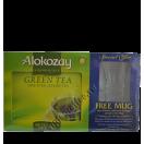 Набор зеленого чая Alokozay. 100пак. и кружка